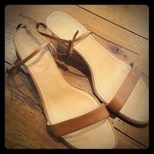 Jcrew tan leather sandals sz 8